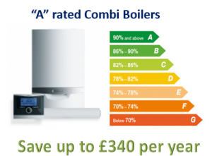 A rated combi boilers